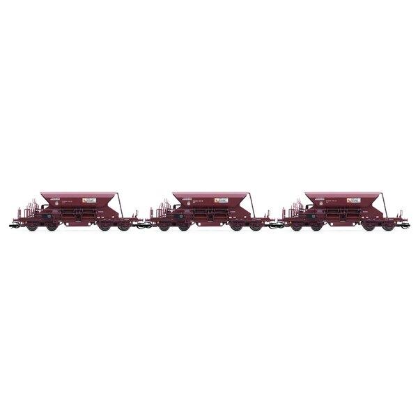 3 piècesKit de wagons autodéchargeurs type Fac 265, KIROW