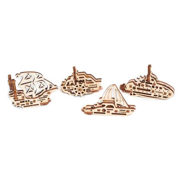 bateaux set de 4 pièces, 56 pièces, yacht 13pcs