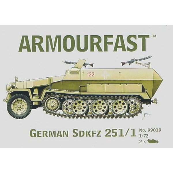 Hanomag Sd.Kfz.251/1: the pack includes 2 snap together tank kits