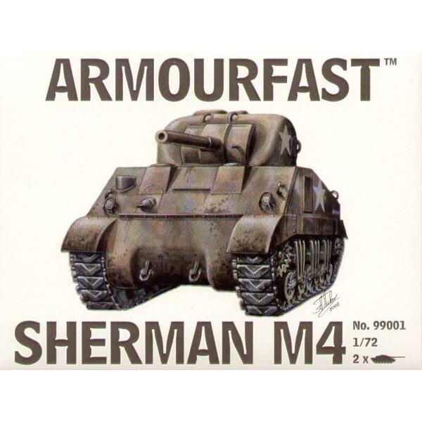 Sherman M4 Medium Tank: Le pack contient 2 maquettes de char à monter sans colle