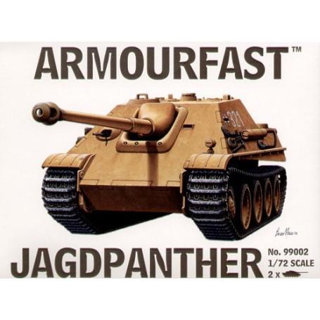 Jagdpanther Tank Destroyer: Le pack contient 2 maquettes de char à monter sans colle