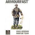 wwii late german mortar team - 20 figurines et 4 mortiers par boîte