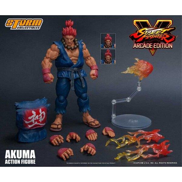 Street Fighter V Arcade Edition figurine 1/12 Akuma Nostalgia Costume 18 cm