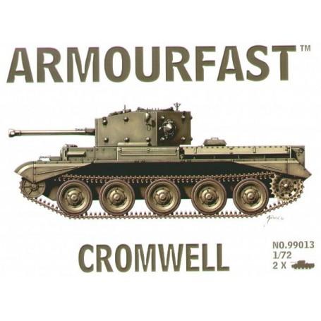 Cromwell tanks: Le pack contient 2 maquettes de char à monter sans colle.