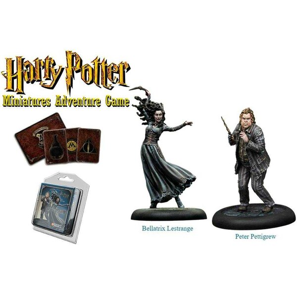Harry Potter pack 2 figurines 35 mm Bellatrix & Wormtail *ANGLAIS*