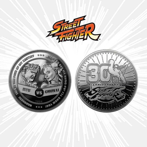 Street Fighter pièce de collection 30th Anniversary Ryu vs Chun-Li