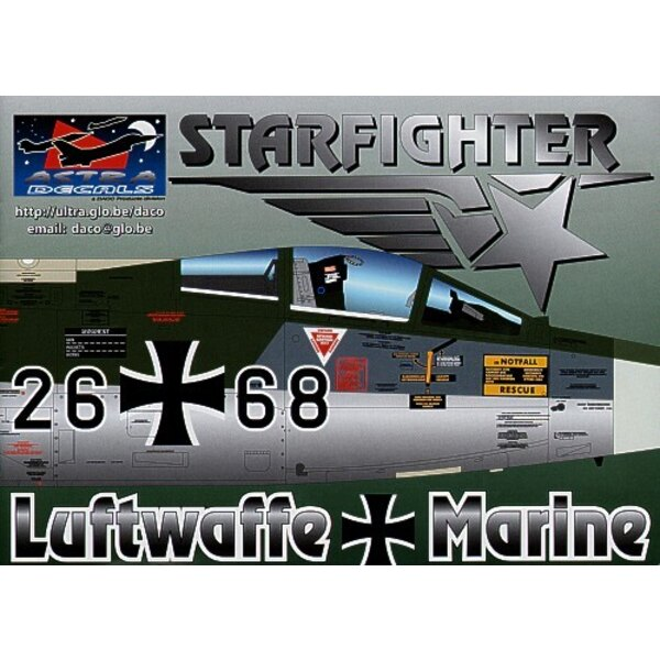 German Lockheed F-104G Starfighters decals the most researched decals ever. Containing over 1400 separate decals this set will a