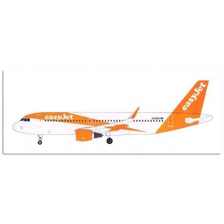 Airbus A320-214 en livrée Easyjet.Vac Formé fuselage avec toutes les autres parties en résine barre le train d'atterrissage et