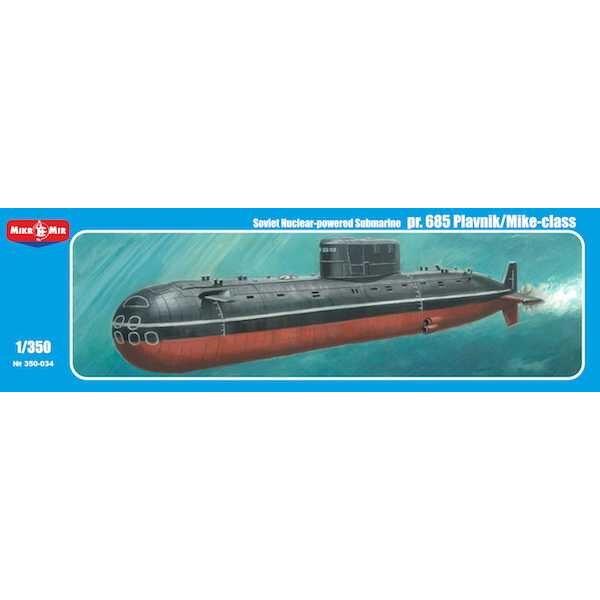 pr.685 Plavnik / Mike Class Sous-marin à propulsion nucléaire soviétique