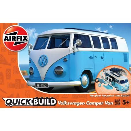VW Camper Van QUICK BUILD Blue (Pas de colle ni de peinture requise)