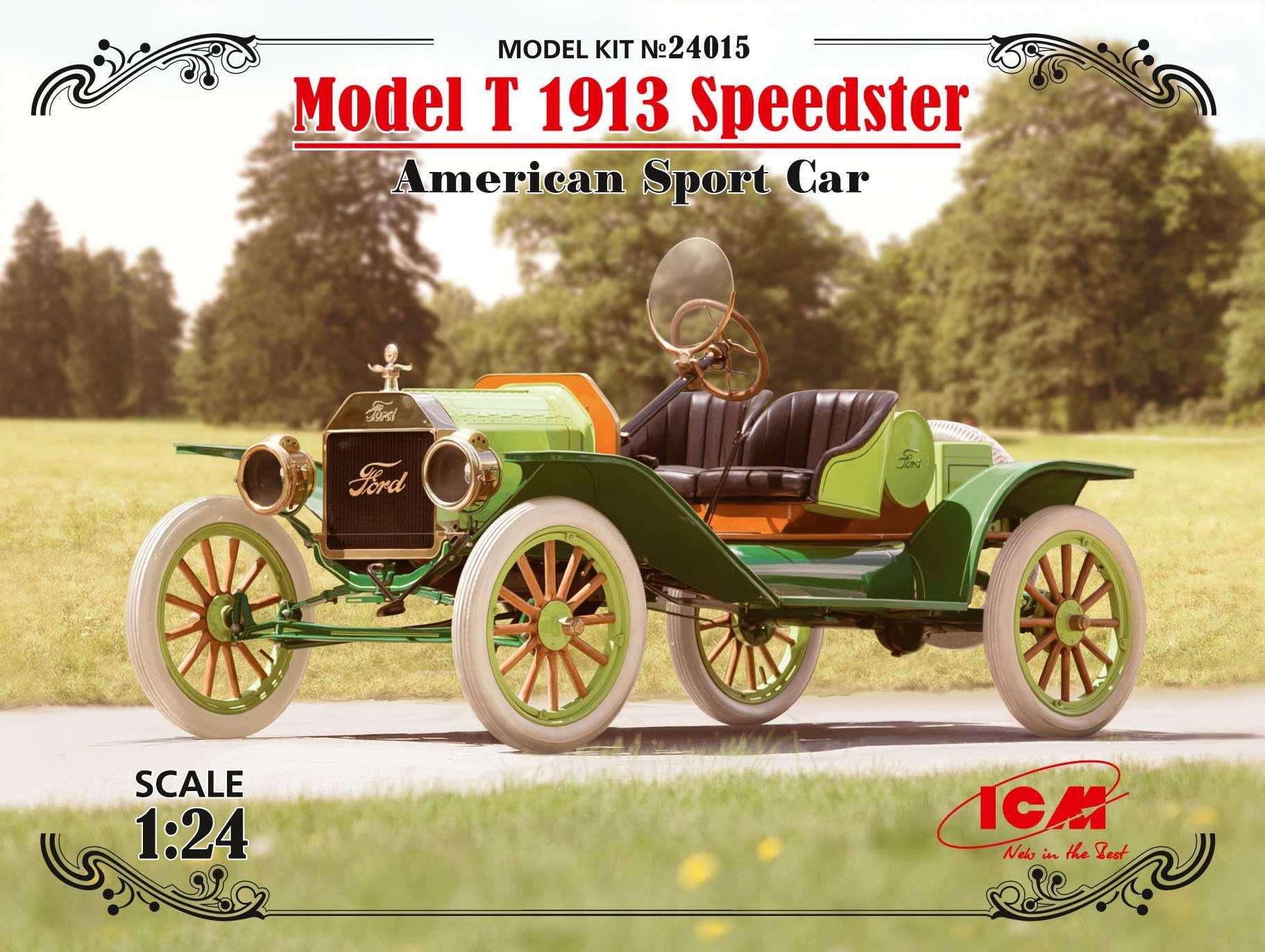 Maquette de voiture - Modèle T 1913 Speedster, voiture de sport améric