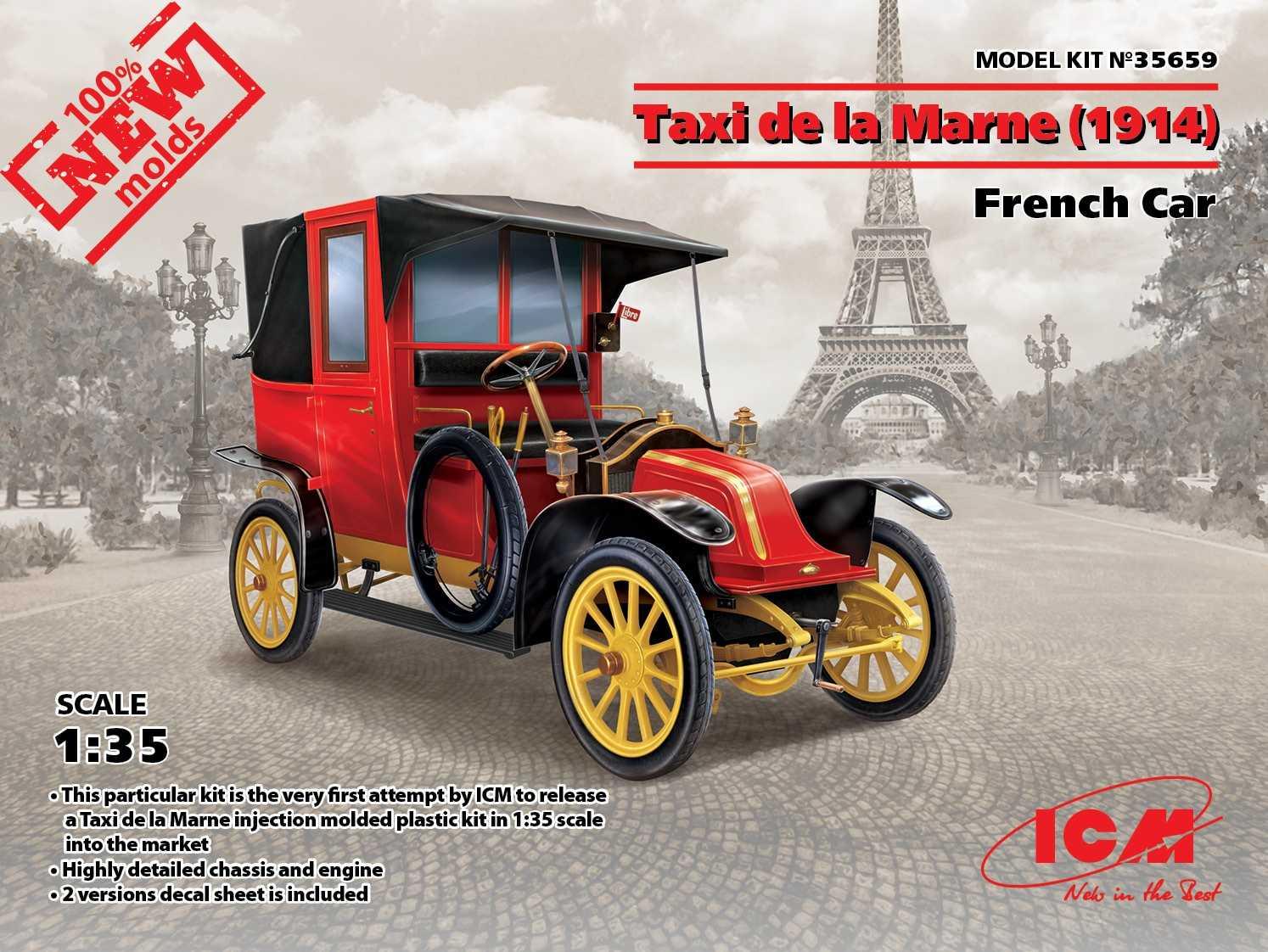 Maquette de voiture - Taxi de la Marne (1914) Voiture française (100%