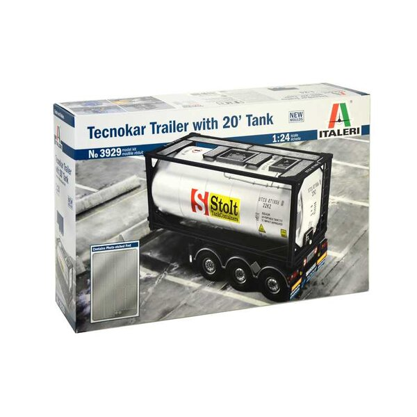 Tecnokar 20 Tank Trailer NEW MOULDS - CONTAINS PHOTO-ETCHED FRETThe 20' Tecnokar Tank trailer is designed to ensure the highest