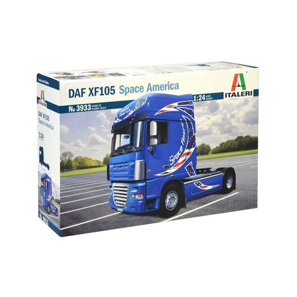 DAF XF105 Space America SUPER DECALS SHEET FOR 2 VERSIONSThis road haulage tractor by DAF is a restyled version of the successfu