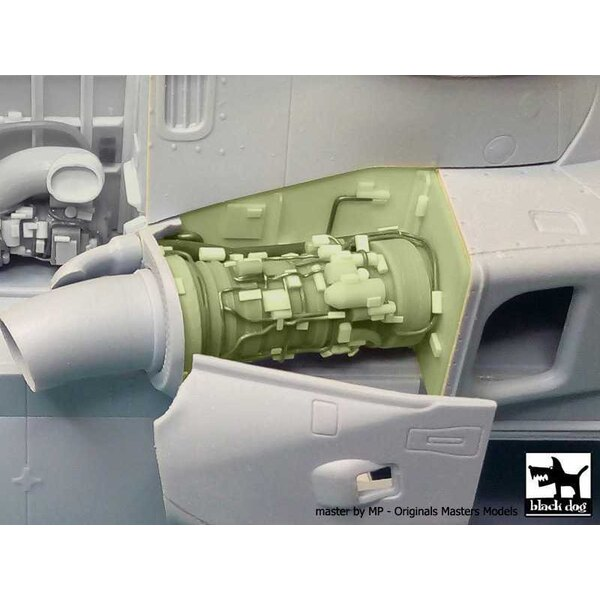 Agusta-Westland Merlin HC.3 engine set N°2 (designed to be used with Airfix kits)