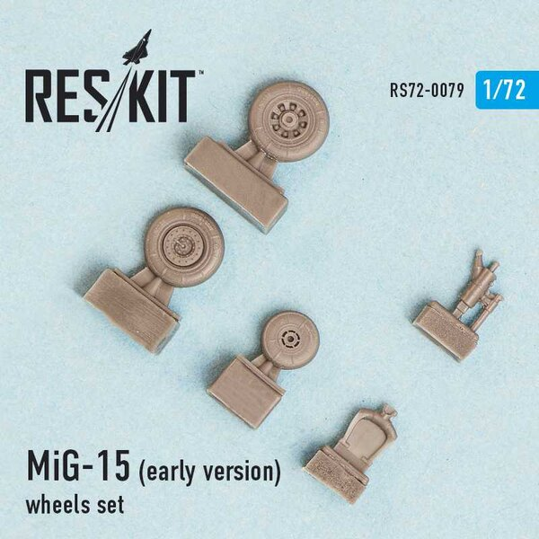 Mikoyan MiG-15 (early version) wheels set (designed to be used with Airfix, Dragon, Eduard, Hobby Boss, Kopro (ex KP), Master Cr