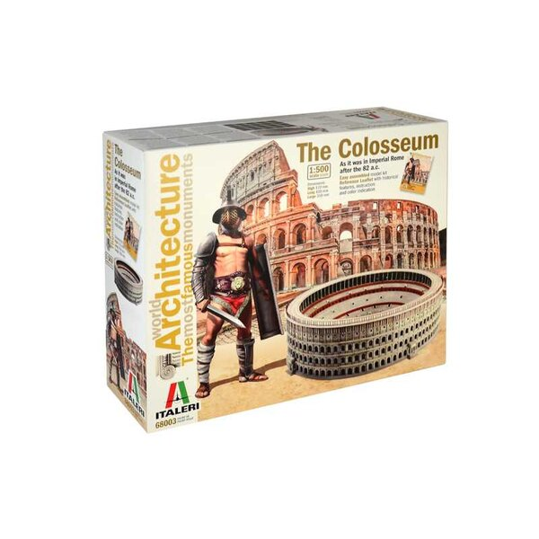 THE COLOSSEUM : WORLD ARCHITECTURE<br />100% NEW MOULDS Easily assembled model kit <br /><br />Reference Leaflet with historical