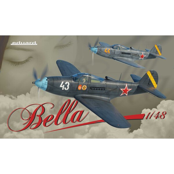 Bella Limited Edition kit of WWII fighter aircraft Bell P-39 Airacobra in 1/48 scale. The Dual Combo style kit offers Airacobras