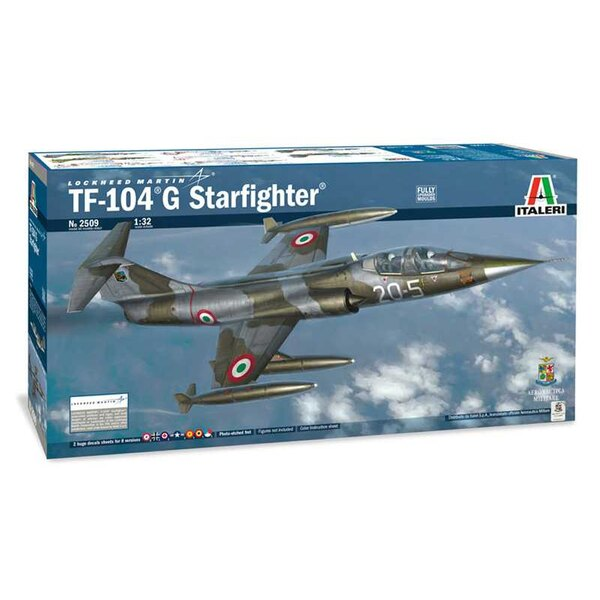 Lockheed TF-104G Starfighter AMI FULLY UPGRADED MOULDS. FINELY ENGRAVED RECESSED PANEL LINES AND RIVETS - FULLY DETAILED ENGINE