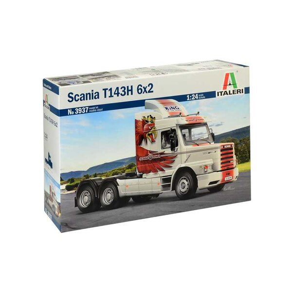 Scania T143H 6x2<br />COLORS INSTRUCTIONS SHEET - SUPER DECALS SHEET FOR 2 VERSIONS The Scania T143H 6x2 is a strong, reliable t
