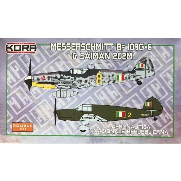 Messerschmitt Bf-109G-6 and Saiman 202M ANR - Double kit.