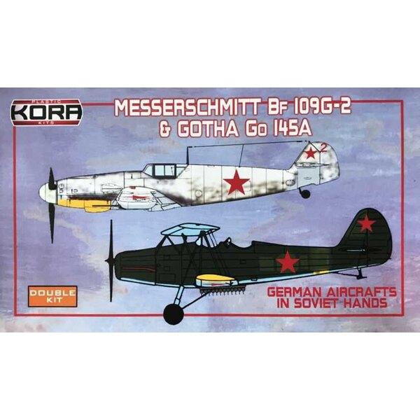 Messerschmitt Bf-109G-2 and Gotha Go 145A German Aircrafts in Soviet hands - Double kit.