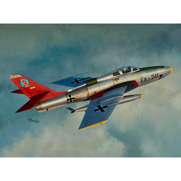 Republic RF-84F Thunderflash 4 markings; USAF, France, Luftwaffe and Norway Kits contains Plastic and resin arts .