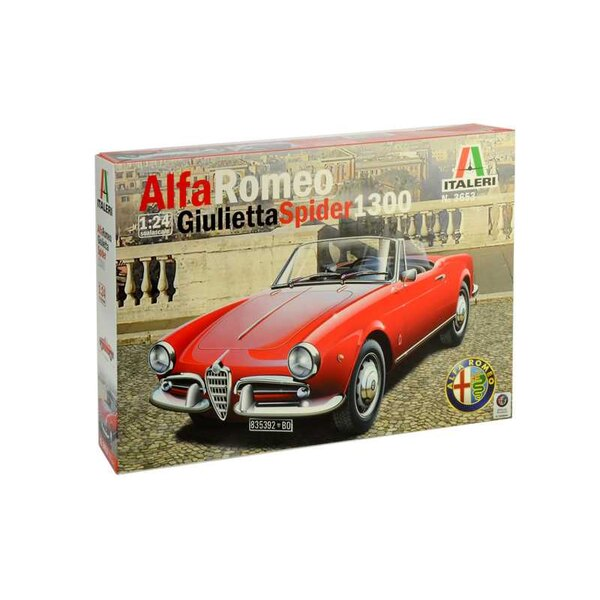 Alfa Romeo Giuletta Spider 1600 COLORS INSTRUCTIONS SHEET - DETAILED ENGINE - CHROME PARTS AND CAPOTE FOR CLOSED VERSION Icon of