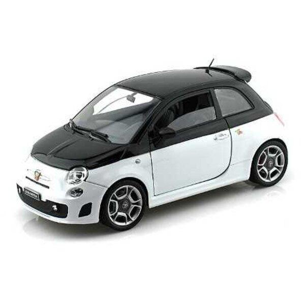 FIAT 500 ABARTH BLANC / NOIR