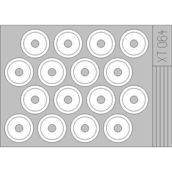 Pochoirs de roue de M3A Stuart (pour maquettes Academy)