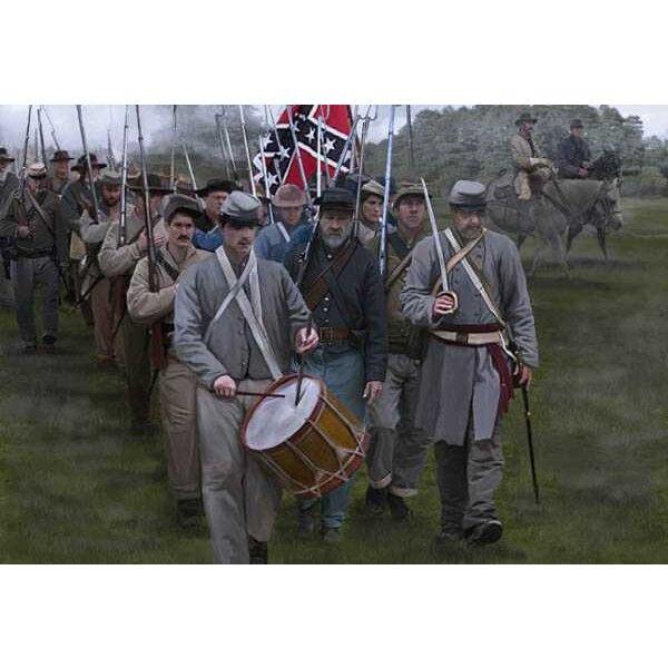 Confédérés sur le Gettysburg Mars (époque ACW / Guerre de Sécession)