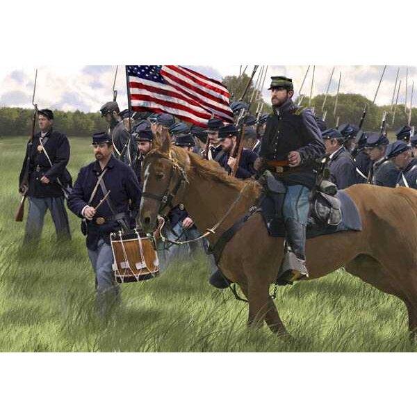 Union des États-Unis d'infanterie sur le Mars (époque ACW / Guerre de Sécession)