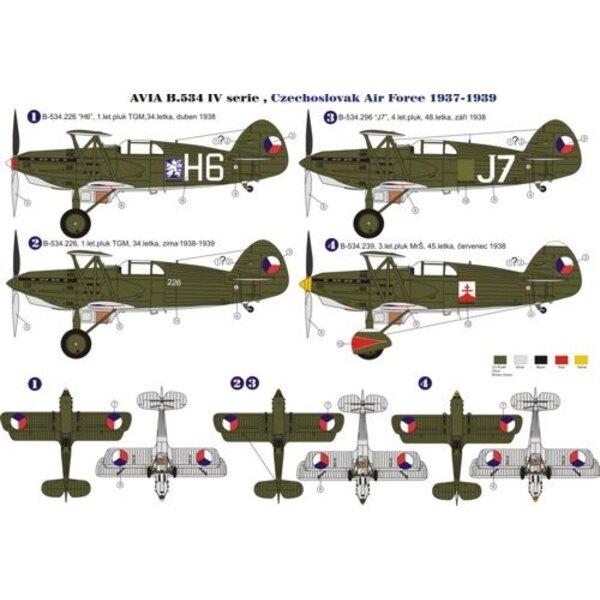 Avia B-534 IV.serie planche de décalques
