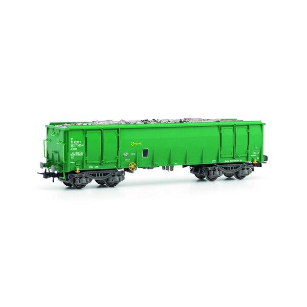 Ealos wagon RENFE, vert et gris, c / scrap 6puer