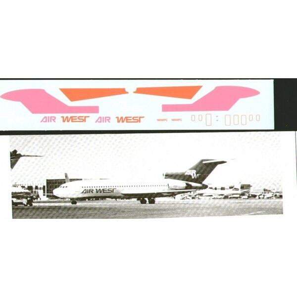 Boeing 727-100 AIR WEST Pink/Orange N898PC
