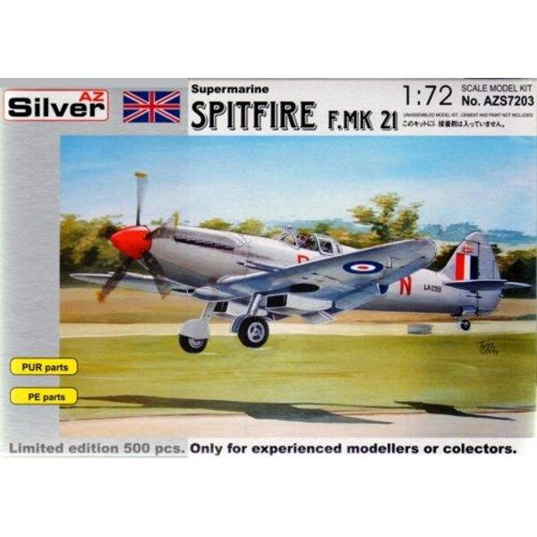 Supermarine Spitfire Mk.21avec pièces en résine et photodécoupe. Edition limitée à 500 kits pour le monde entier
