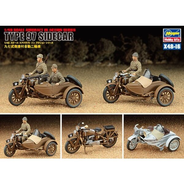 Japanese Type 97 Motorcycle and Sidecar x 2 complete kits in 1 box