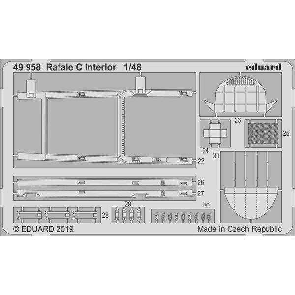 Intérieur Dassault Rafale C (conçu pour être utilisé avec les kits Revell)