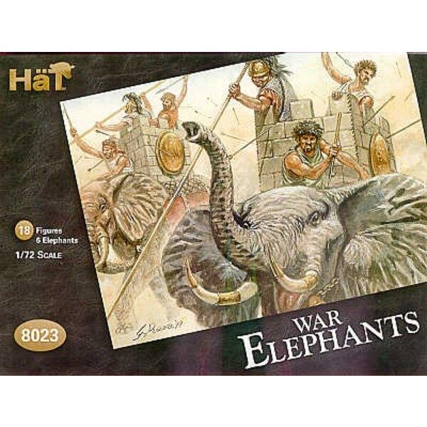 War Elephants 6 Elephants 18 figures.