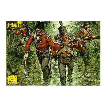 Infanterie légère britannique napoléonienne : 48 figurines. Avec shako à haut de forme. Peut être utilisé pour l'infanterie légè