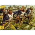fusiliers français napoléoniens : 48 figurines. fusiliers de ligne français post-1812 en tenue de ca