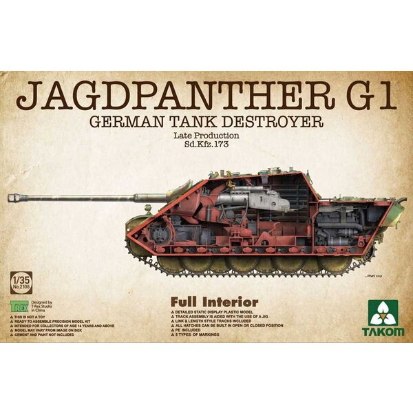 Sd.Kfz.173 Jagdpanther G1 Production tardive