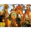 Commandement carthaginois et cavalerie : 24 figurines à pied, 12 montéess, 72 accessoires