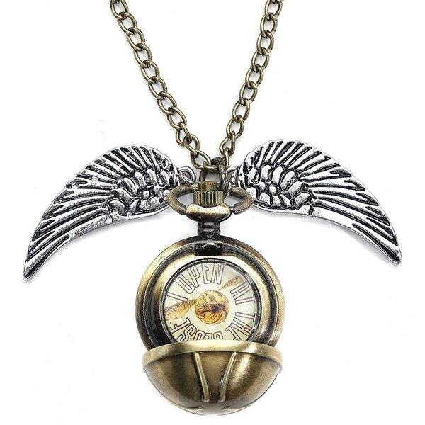 Harry Potter pendentif et collier plaqué argent 3D Snitch Locket