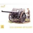 attelage d'artillerie allemande 1ère gm 4 chevaux. description : 4 canons 4 attelages et équipage co