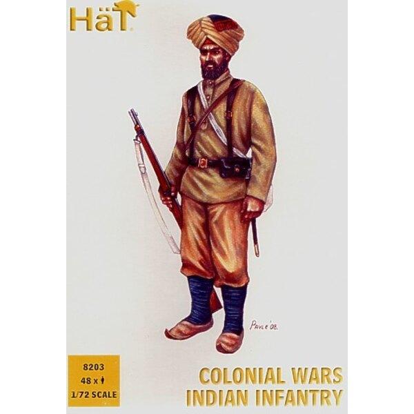 Infanterie indienne des guerres coloniales - 48 figurines par boîte