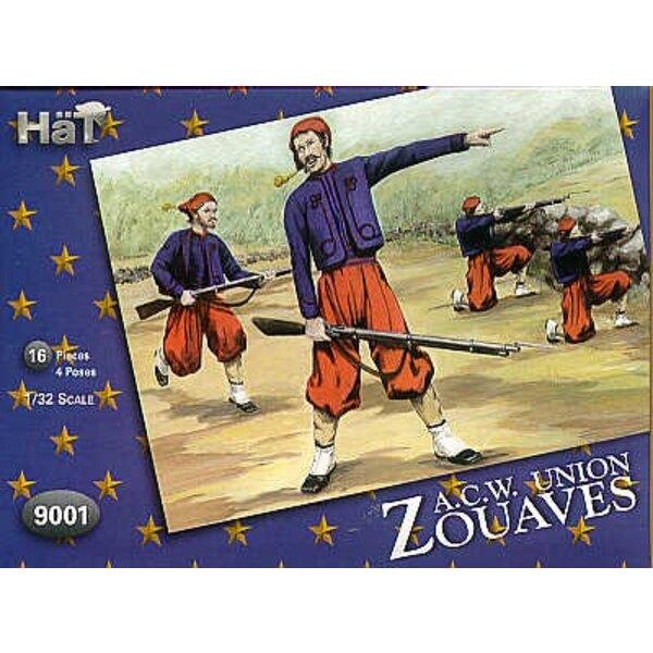 Zouaves de la Guerre de sécession. L'armée US était hautement sous l'influence des uniformes français avant la Guerre de sécessi