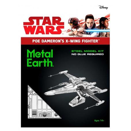 Maquette Métal à Monter en 3D du POE DAMERON/'S X-WING FIGHTER STAR WARS VII