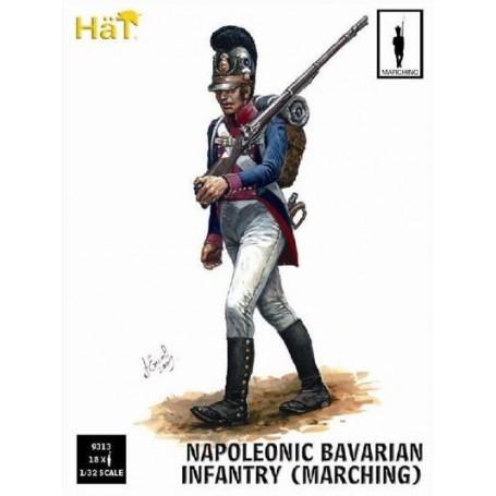 Infanterie bavaroise marchant. 18 figurines par boîte