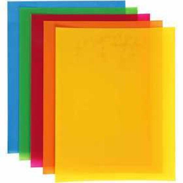 Feuilles de plastique thermorétractable, feuille 20x30 cm, couleurs franches, 100flles